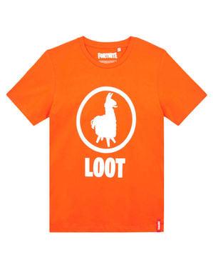 Oranje Fortnite Loot T-shirt voor kinderen