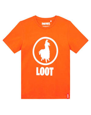 T-shirt Fortnite Loot laranja infantil