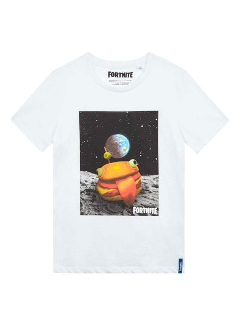 White Fortnite Hamburger T-Shirt for Kids