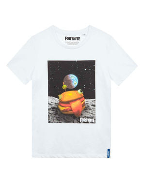 Hvid Fortnite Hamburger t-shirt til børn