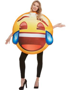 Disfraz de Emoji sonriente con lágrimas