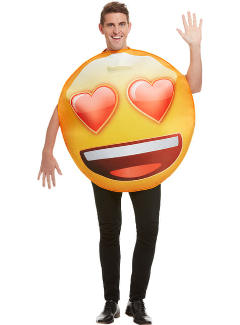 Emoji Kostume smilende med hjerte øjne