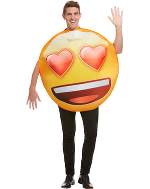 Costum Emoji zâmbet cu ochi inimioare