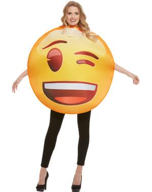 Emoji Maskeraddräkt blinka med ett öga