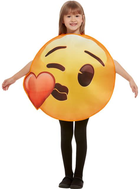 Emoji hjertekyss kostyme til barn
