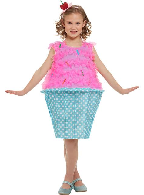 Kostium Różowa Babeczka dla dziewczynek