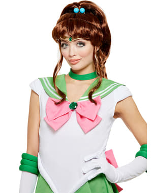 Perucă Sailor Jupiter - Sailor Moon