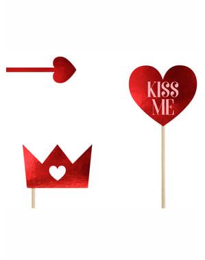 """Set 7 fotodoplňků """"King-Queen"""" - Valentine Collection"""