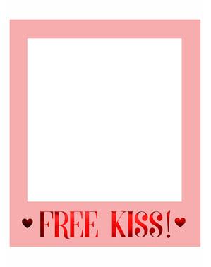 Besplatno Kiss Giant foto okvir - Valentinovo Zbirka