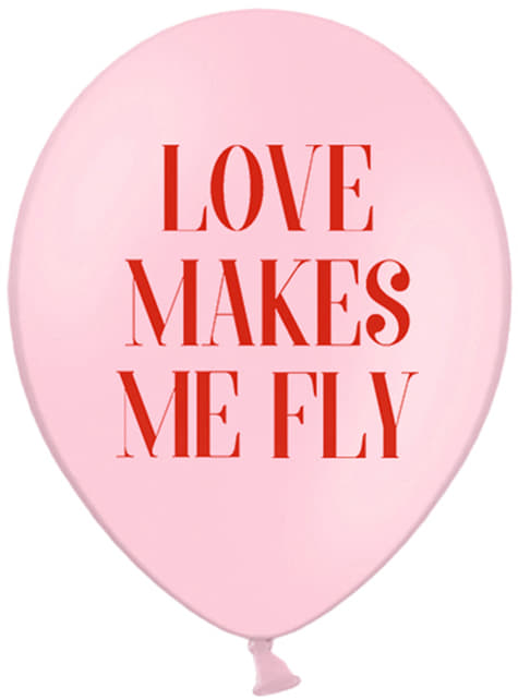 6 lateksowe balony Love Makes Me Fly – Valentine Collection