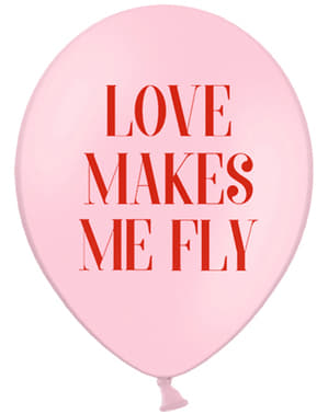 6 Love Makes Me Fly Lateksi-ilmapalloa – Valentine Collection