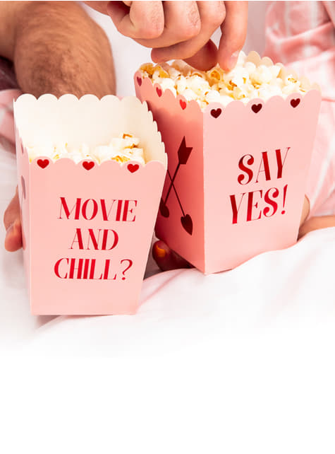 6 boîtes à Popcorn Say Yes! - Valentine Collection