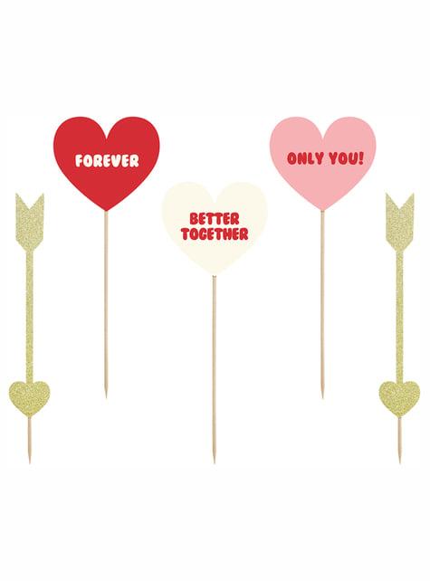 5 piques cœurs et flèches - Valentine Collection