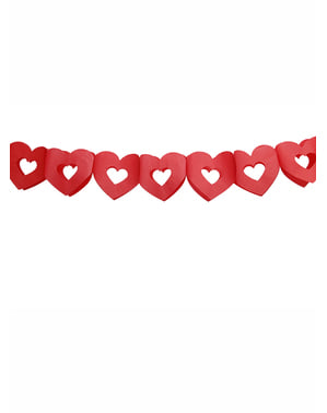 Girlanda červená srdce – Valentine collection