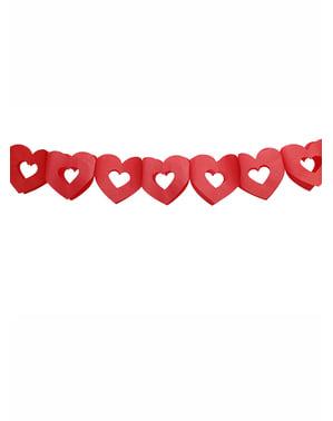Guirlande cœurs rouges - Valentine Collection