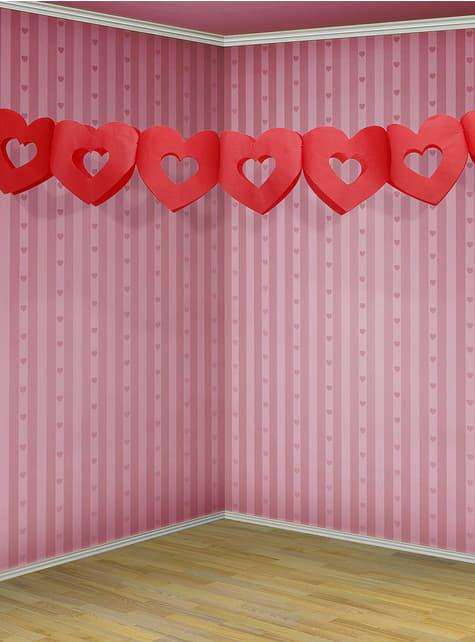 Guirnalda de corazones rojos - Valentine Collection - para tus fiestas