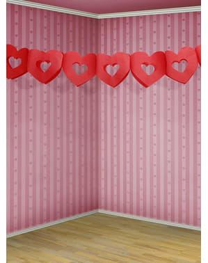 赤いハートガーランド - バレンタインコレクション