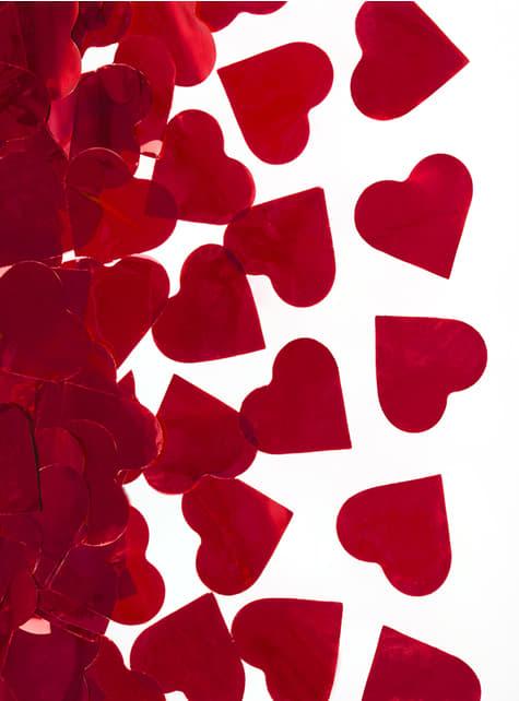 Wyrzutnia konfetti metaliczne serca – Valentine Collection