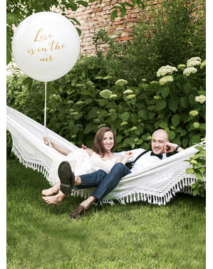 Ballon géant blanc Love is in the air - Valentine Collection