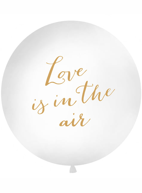 Ogromny biały balon Love Is In The Air – Valentine Collection