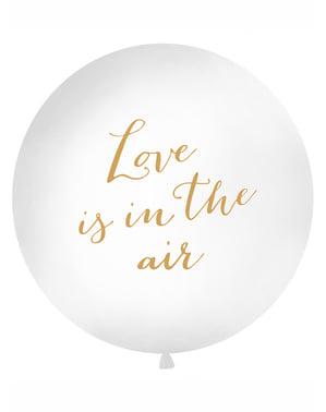 Jättimäinen Valkoinen Rakkautta Ilmassa -Ilmapallo – Valentine Collection
