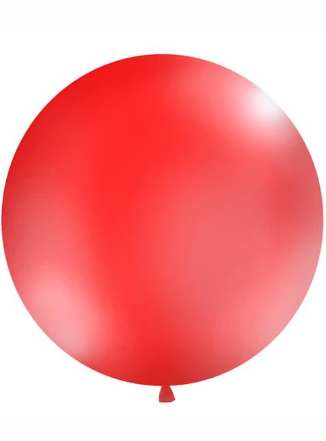 Ballon géant rouge pastel