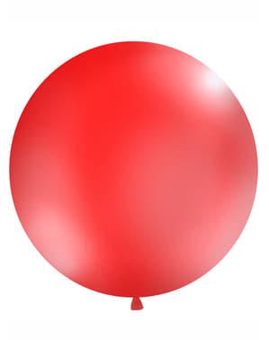 Gigantisk ballong röd pastellfärg