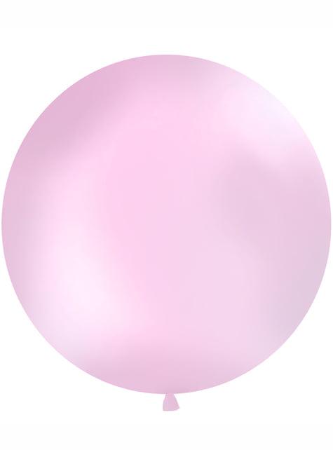 Ogromny jasnoróżowy balon