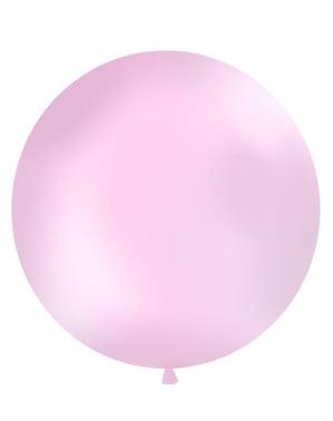 Gigantisk ballong rosa pastellfärg