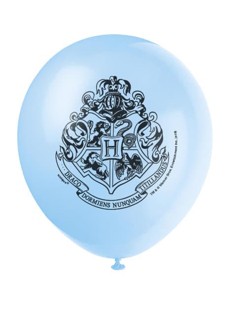 Conjunto de 8 balões variados Casas de Hogwarts - Harry Potter