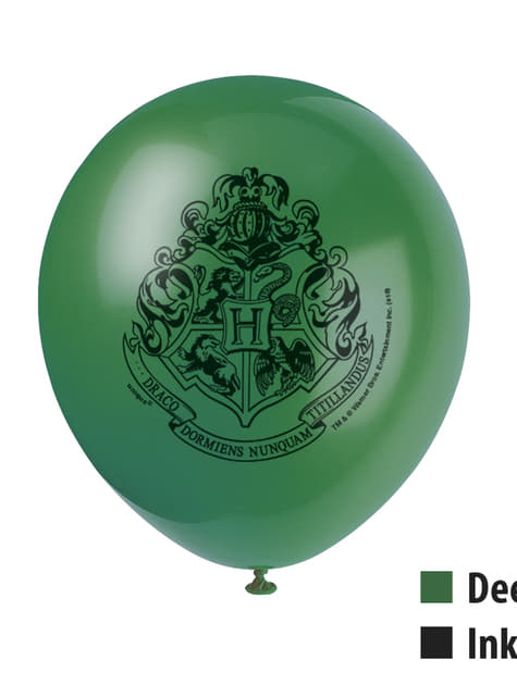 8 ballons variés Maisons Poudlard - Harry Potter