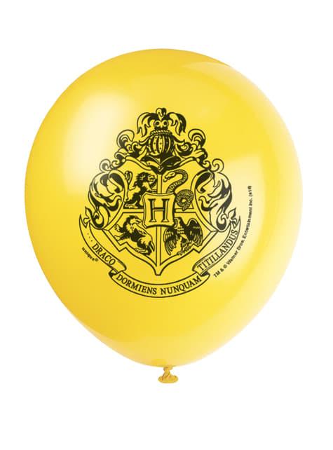 8 globos variados Harry Potter (30cm) - Hogwarts Houses