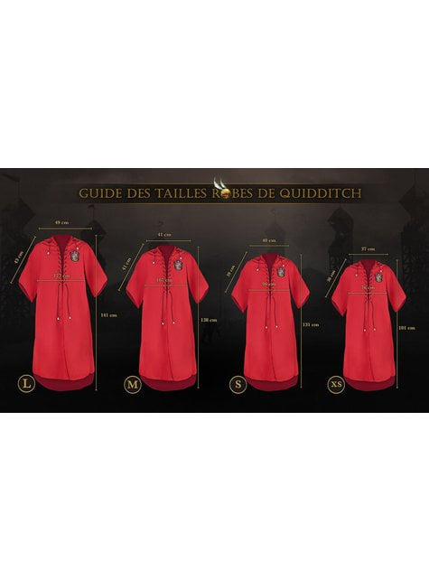 Túnica de Quidditch Gryffindor infantil (Réplica oficial Collectors) - Harry Potter