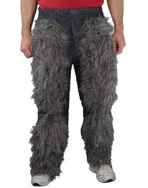 Pantalon fourrure pattes de monstre adulte