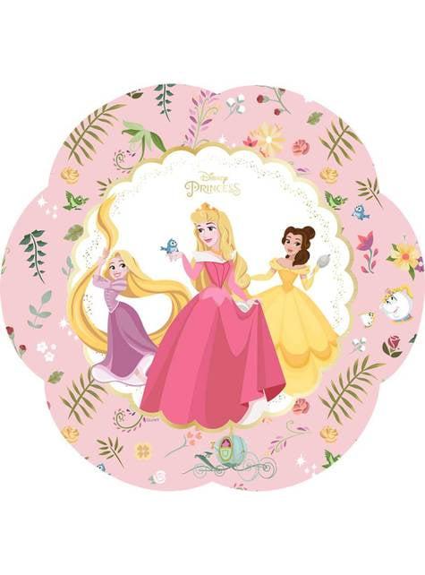 4 platos con forma de flor de las mágicas princesas Disney (30x20 cm) - True Princess