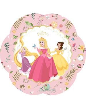 4 tallrikar i form av en blomma med de magiska Disney prinsessorna (30x20 cm) - True Princess