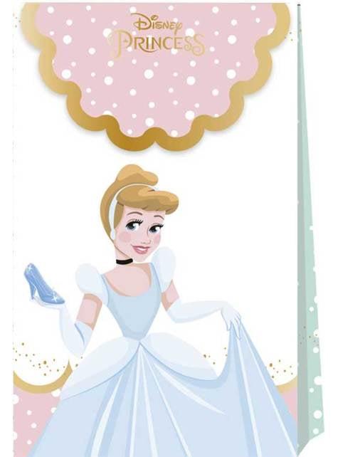 Conjunto de 4 sacos de doces das mágicas princesas Disney - True Princess