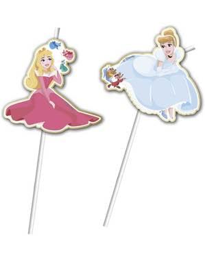 6 palhinhas das mágicas princesas Disney - True Princess