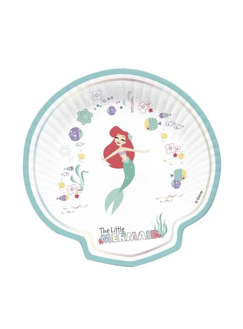 4 Shell Shaped The Little Mermaid Plate (30x20 cm) - Ariel Under the Sea