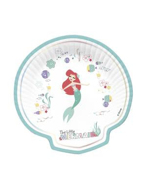 4 assiettes en forme de coquillage  de La Petite Sirène - Ariel Under the Sea