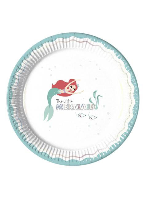 8 platos de La Sirenita (23 cm) - Ariel Under the Sea