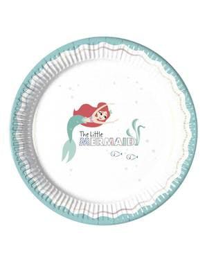 Sett med 8 Den Lille Havfrue Tallerkener - Ariel Under the Sea