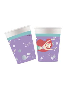 8 bicchieri la Sirenetta- Ariel Under The Sea