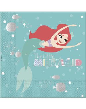 Комплект от 20 малката русалка Салфетки - Ариел под морето