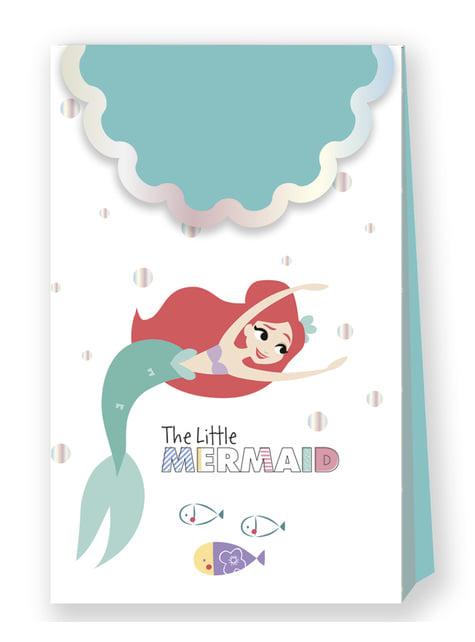 Sett med 4 Den Lille Havfrue Festposer - Ariel Under the Sea