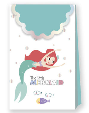 4 Den Lille Havfrue Fest Poser - Ariel Under the Sea