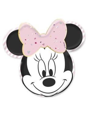 4 tallrikar i form av Mimmi Pigg (32cm) - Minnie Party Gem