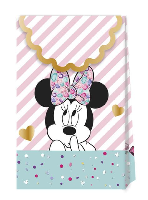 4 sacos de doces de Minnie Mouse - Minnie Party Gem