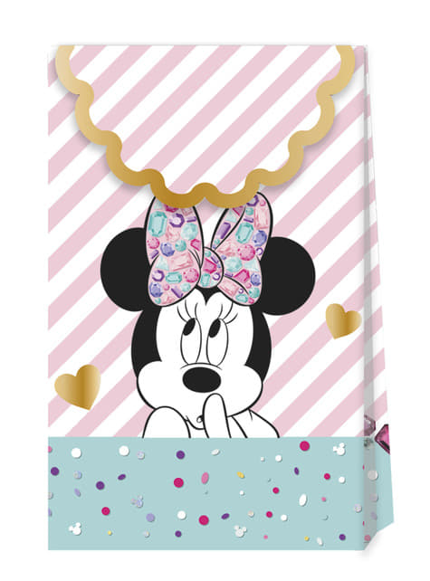 Set of 4 Minnie Mouse Party Bags - Minnie Party Gem