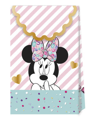 4 sacos de doces de Minnie Mouse - Minnie Party Gem